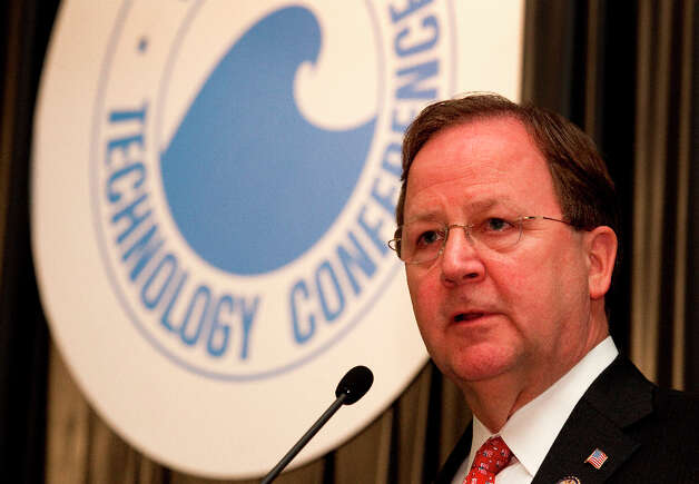 Rep. Bill Flores, R-Bryan, speaks about U.S. energy policy during the 2012 Offshore Technology Conference Wednesday, May 2, 2012, in Houston. Photo: Brett Coomer, Houston Chronicle / © 2012 Houston Chronicle