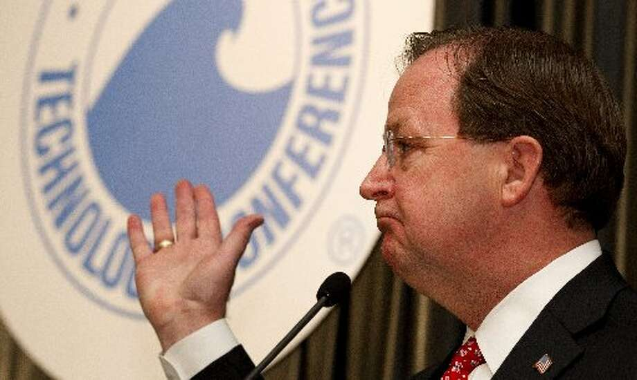 Rep. Bill Flores, R-Bryan, speaks about U.S. energy policy during the 2012 Offshore Technology Conference Wednesday, May 2, 2012, in Houston. ( Brett Coomer / Houston Chronicle )