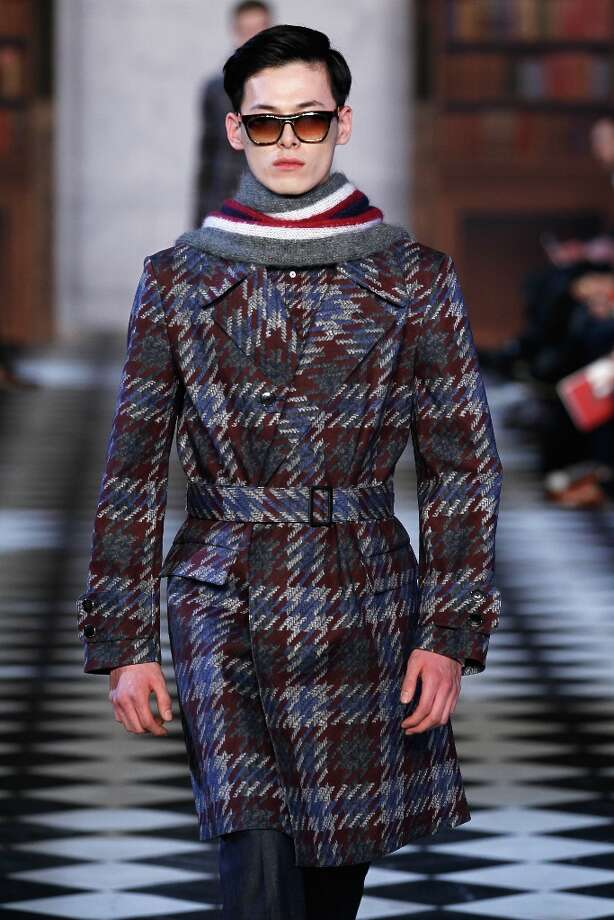 Plaid from Tommy Hilfiger Photo: Peter Michael Dills / 2013 Getty Images