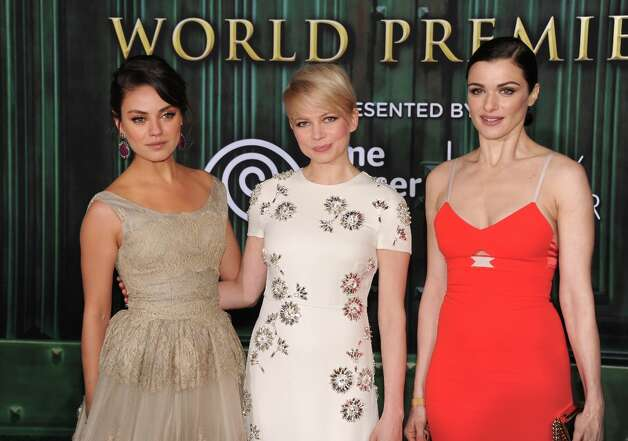 (L-R) Actresses Mila Kunis, Michelle Williams and Rachel Weisz attend the world premiere of Walt Disney Pictures' Oz The Great And Powerful at the El Capitan Theatre on February 13, 2013 in Hollywood, California. Photo: Kevin Winter, Getty Images / 2013 Getty Images