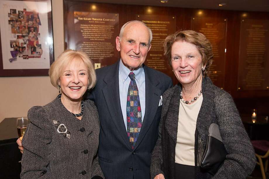 Mary Metz, Gene Metz, Sally Rosenblatt pictured at A.C.T.'s Producers Circle Dinner on Wednesday, February 13 at A.C.T.'s Geary Theater. Photo: Drew Altizer Photography