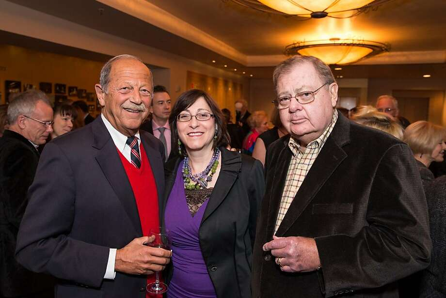 Donald Miller, Toni Miller, Tony Bianco pose for a photo at the Producers Circle Dinner on February 13, 2013. The event took place at A.C.T.'s Geary Theatre. Photo: Drew Altizer Photography