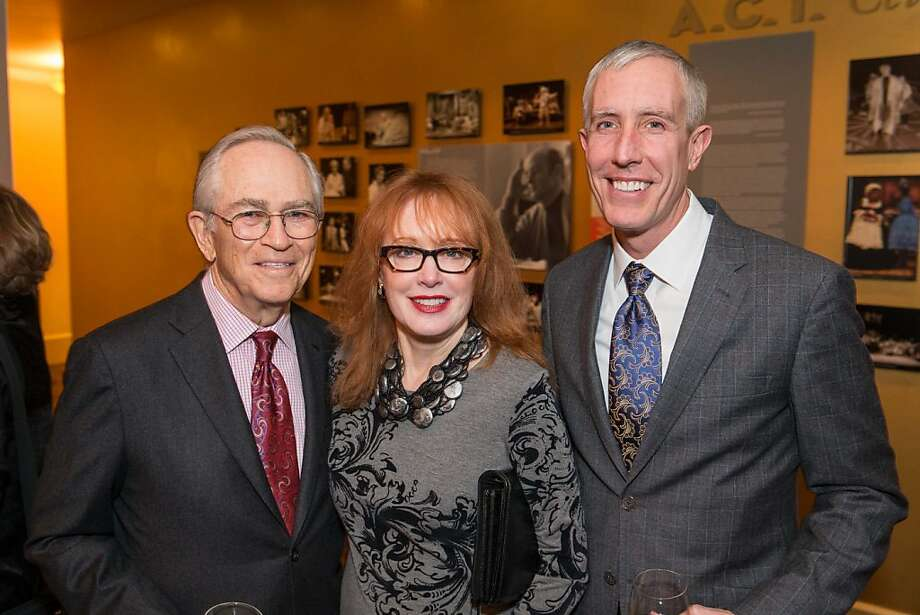 Alan Stein, Cricket Jones and Tim Whalen at the A.C.T.'s Producers Circle Dinner. Photo: Drew Altizer Photography