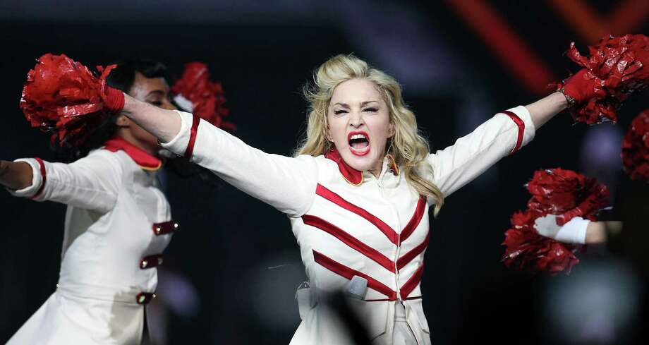 Madonna: The iconic musician drives a Maybach 57.Source: Yahoo Photo: Karen Warren, Houston Chronicle / © 2012  Houston Chronicle