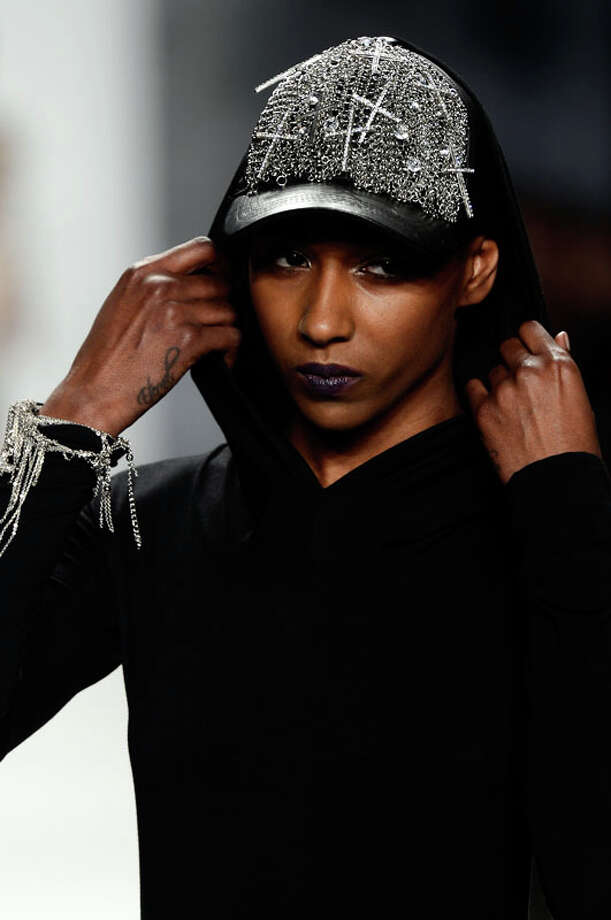 Blingy baseball caps (Photo by Frazer Harrison/Getty Images for Mercedes-Benz Fashion Week) Photo: Frazer Harrison, (Credit Too Long, See Caption) / 2013 Getty Images