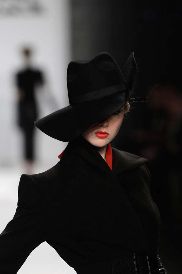 Serious hat drama (Photo by Frazer Harrison/Getty Images for Mercedes-Benz Fashion Week) Photo: Frazer Harrison, (Credit Too Long, See Caption) / 2013 Getty Images