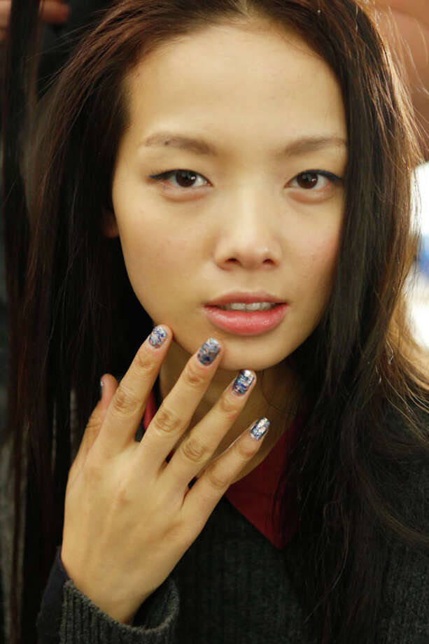 Wild blue fingernails (Photo by Cindy Ord/Getty Images for Mercedes-Benz Fashion Week) Photo: Cindy Ord, (Credit Too Long, See Caption) / 2013 Getty Images