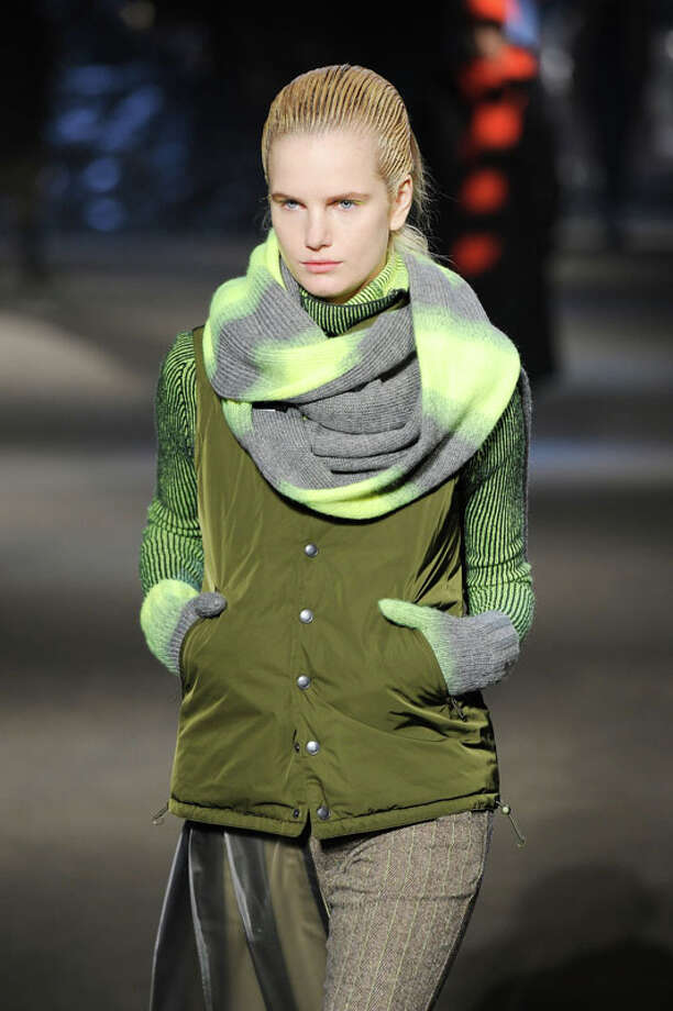 Infinity scarf and matching gloves Photo: Fernanda Calfat, Getty Images For Y-3 / 2013 Getty Images