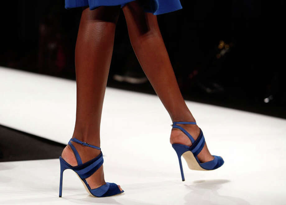 Strappy blue stilettos Photo: JOSHUA LOTT, AFP/Getty Images / 2013 AFP