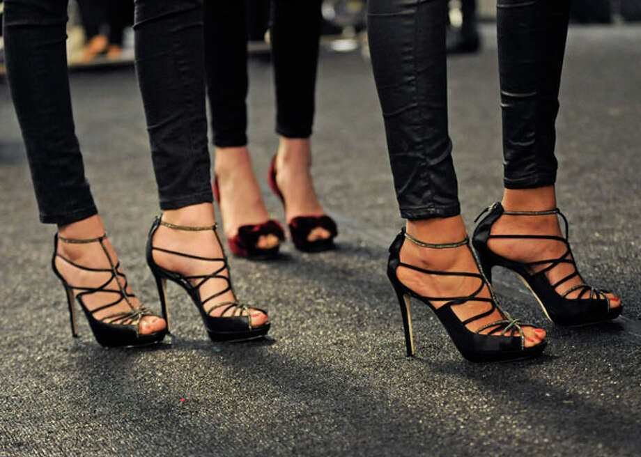 Lots of ventilation in these heels (AP Photo/Louis Lanzano) Photo: Louis Lanzano, Associated Press / FR77522 AP