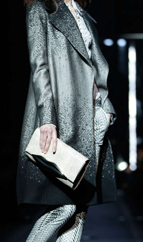 The Diane von Furstenberg Fall 2013 collection is modeled during Fashion Week in New York, Sunday, Feb. 10, 2013.  (AP Photo/Seth Wenig) Photo: Seth Wenig, Associated Press / AP