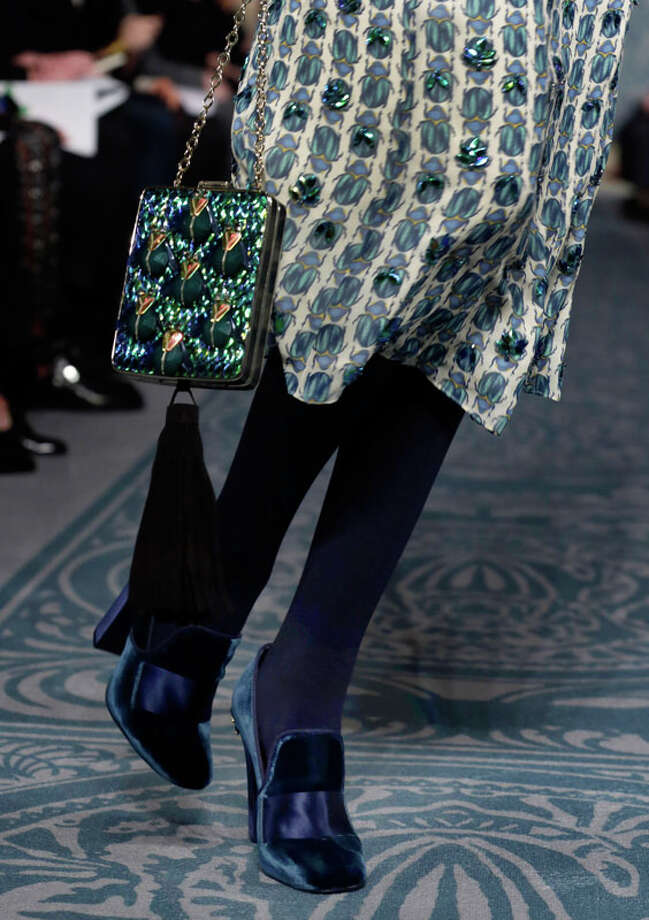 The Tory Burch Fall 2013 collection is modeled during Fashion Week in New York on Tuesday, Feb. 12, 2013. (AP Photo/Richard Drew) Photo: Richard Drew, Associated Press / AP