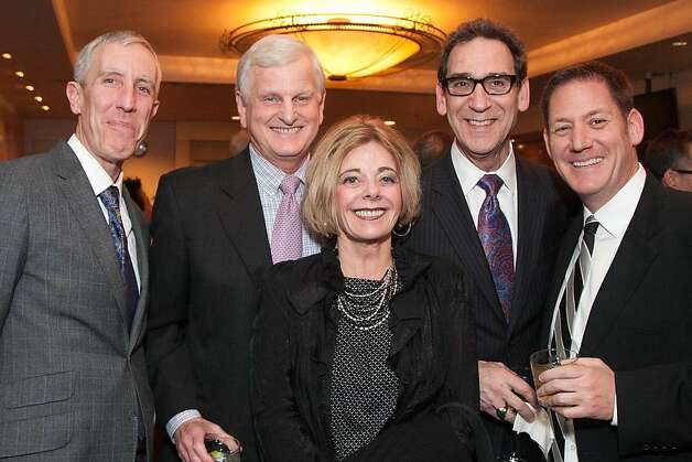 Tim Whalen, Ron Hoge, Diane Hoge, Fred Levin and Bill Gardner Photo: Drew Altizer Photography