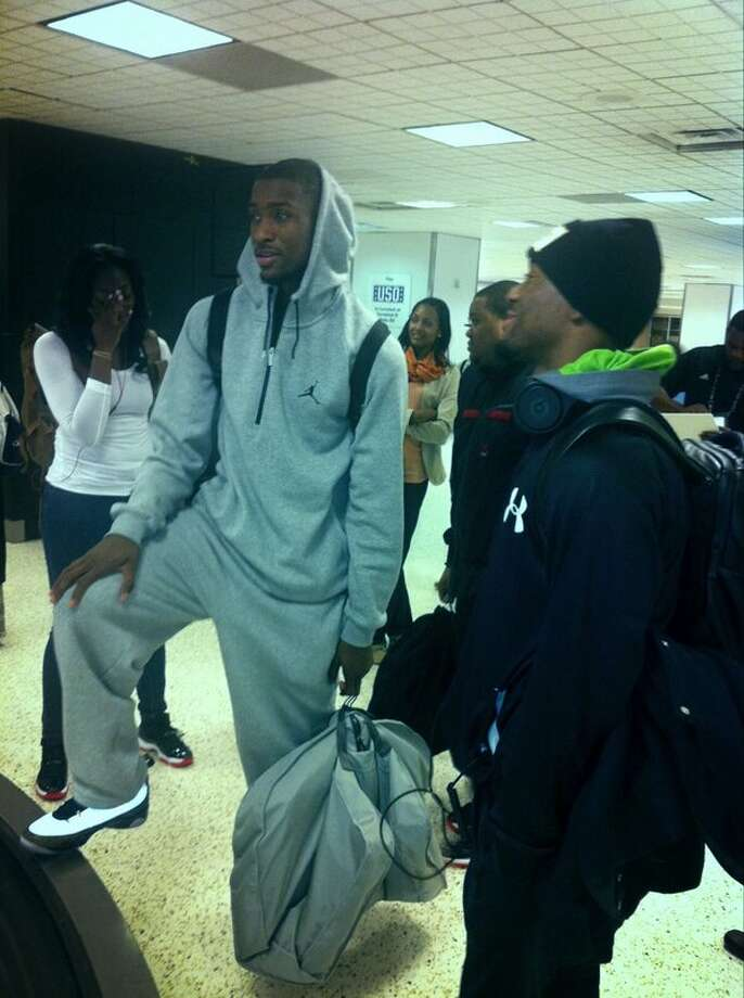 BobcatsBballPR: On the ground in Houston for @NBA All-Star Weekend with @KembaWalker and @MikeGillie14