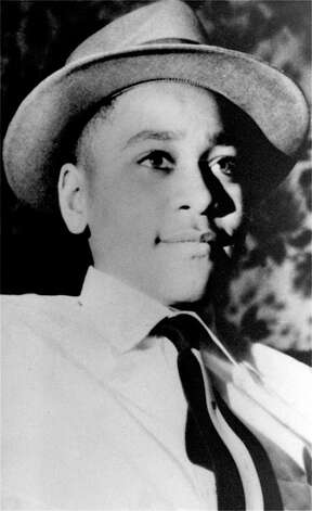"FILE - This undated file photo shows Emmett Till, a black 14-year-old Chicago boy, who was brutally murdered near Money, Mississippi, Aug. 31, 1955, after whistling at a white woman. Epic Records is going to ""great efforts"" to take down a new Future remix leaked over the weekend with a vulgar lyric by Lil Wayne that has offended the family of Emmett Till. (AP Photo/File) Photo: Uncredited"