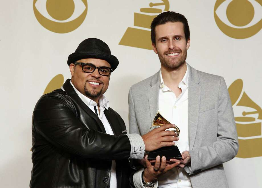 "Songwriters Israel Houghton, left, and Micah Massey won the Grammy for Best Contemporary Christian Music Song for ""Your Presence Is Heaven."" Photo: Matt Sayles, INVL / Invision"