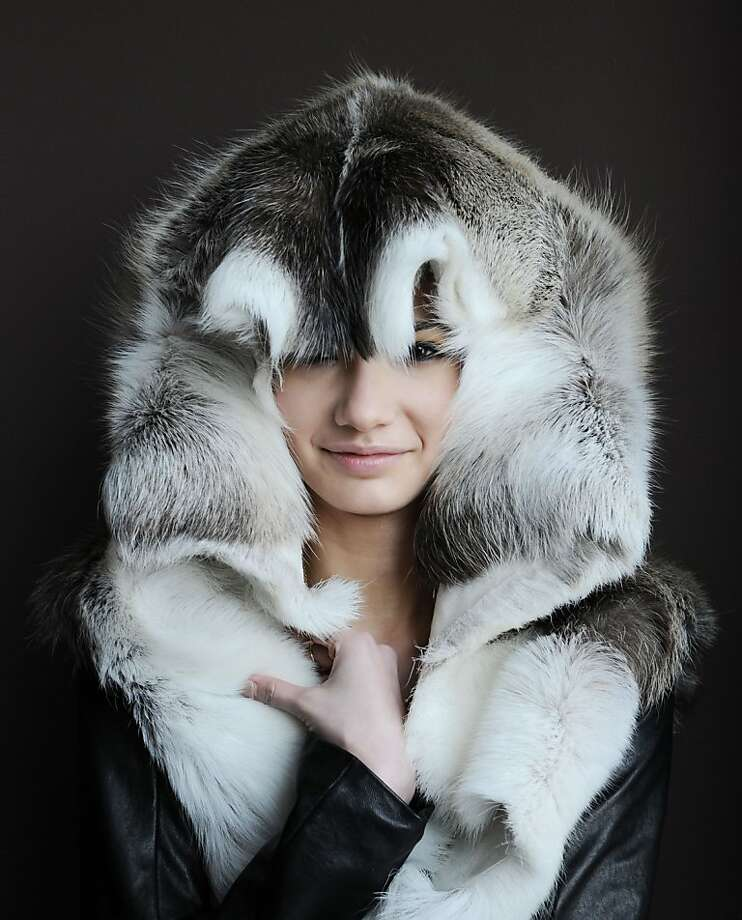 Queen of the wild frontier: We really hope badger pelts aren't making a comeback. (Titania Inglis Fall 2013 collection during MADE Fashion Week in New York.) Photo: Ilya S. Savenok, Getty Images