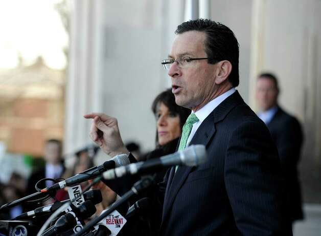 "Gov. Dannel Malloy addresses the ""March for Change"" rally held on the steps of the Capital in Hartford, Conn., Thursday, Feb. 14, 2013, to promote common sense and practical changes to the state's gun laws. Photo: Carol Kaliff / The News-Times"