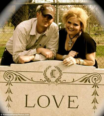 Til death do us part... Photo: © AwkwardFamilyPhotos.com