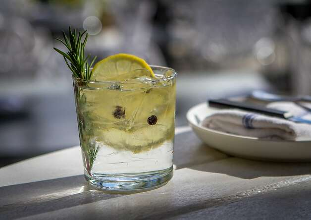 "A sprig of rosemary doubles as a swizzle stick in the ""Chubasco"" Gin and Tonic at Bravas Bar de Tapas in Healdsburg. Photo: John Storey, Special To The Chronicle"