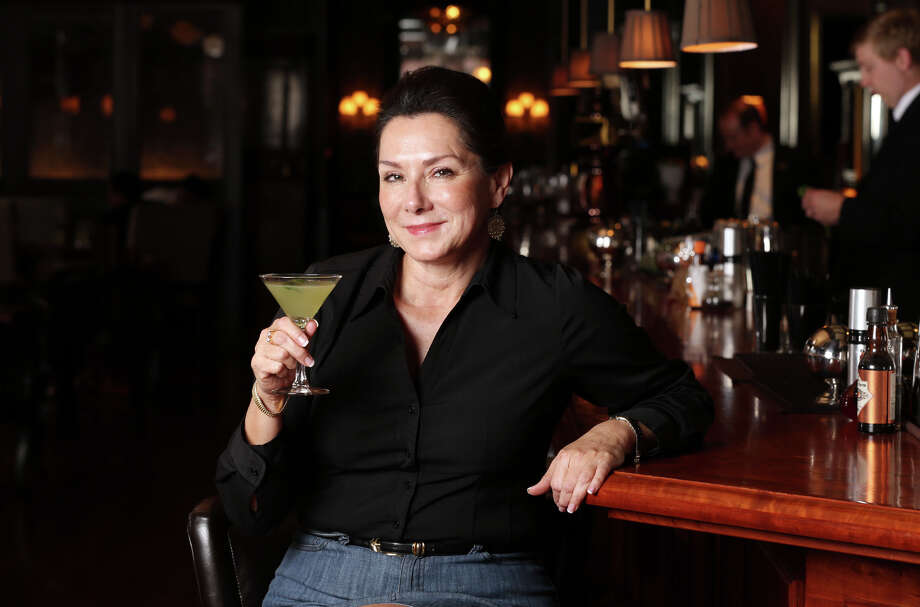 Rio Blanco: JoAnn Boone with the Rio Signature Cocktail by Dale DeGroff at Bohanan's. Click here to read more about the Rio Blanco.