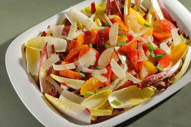 Mixed Citrus Salad With Endive & Creamy Meyer Lemon Dressing; styling by Amanda Gold Photo: Craig Lee, Special To The Chronicle