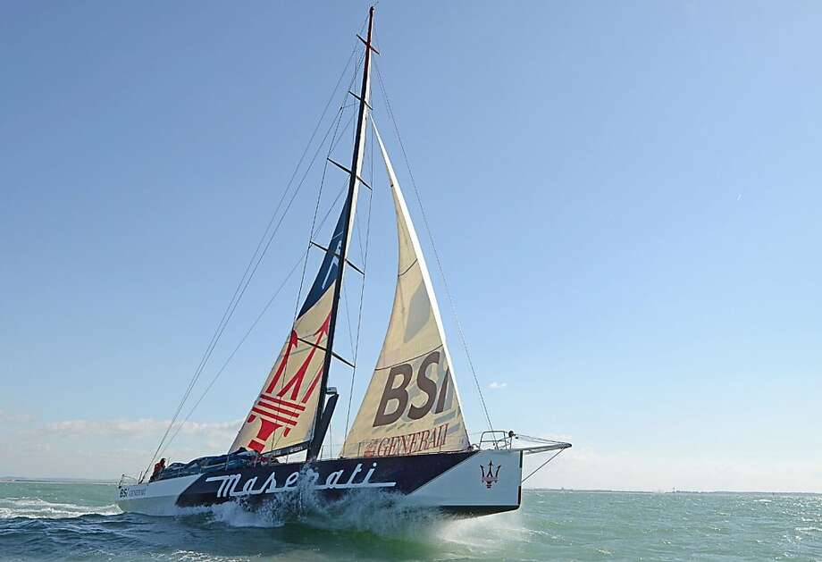 The yacht Maserati sailed from New York on New Year's Eve and is expected to reach San Francisco on Friday or Saturday.
