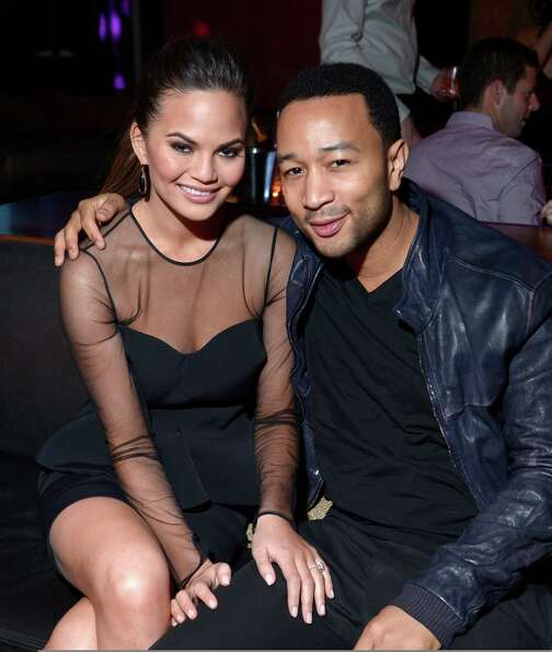 Sports Illustrated swimsuit model Chrissy Teigen and musician John Legend attend SI Swimsuit on Loca