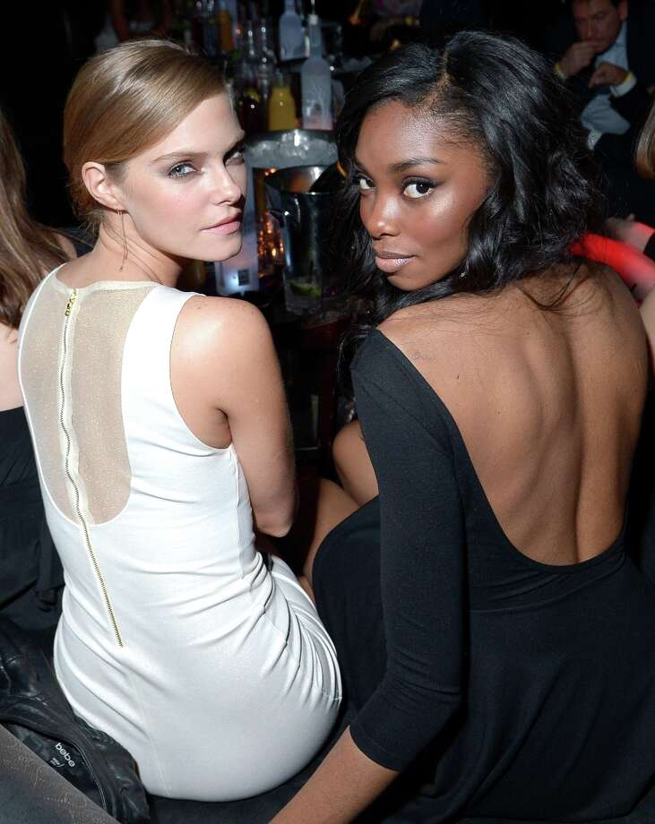 Sports Illustrated swimsuit models Jessica Perez (L) and Adaora attend SI Swimsuit on Location at the Marquee Nightclub at The Cosmopolitan of Las Vegas on February 13, 2013 in Las Vegas, Nevada.  (Photo by Michael Loccisano/Getty Images for Sports Illustrated) Photo: Michael Loccisano, (Credit Too Long, See Caption) / 2013 Getty Images