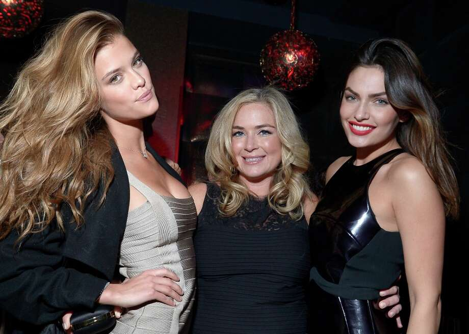 Sports Illustrated swimsuit models Nina Agdal (L) and Alyssa Miller (R) and Sports Illustrated Senior Editor MJ Day attend SI Swimsuit on Location at the Marquee Nightclub at The Cosmopolitan of Las Vegas on February 13, 2013 in Las Vegas, Nevada.  (Photo by Michael Loccisano/Getty Images for Sports Illustrated) Photo: Michael Loccisano, (Credit Too Long, See Caption) / 2013 Getty Images