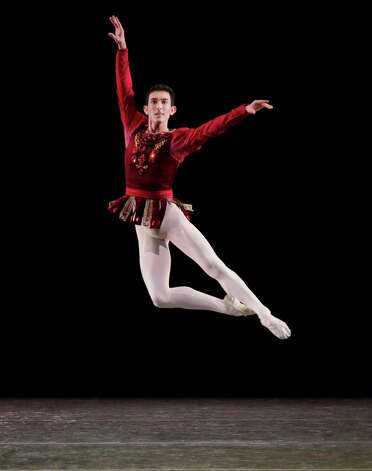 Anthony Huxley in Rubies from JEWELS New York City Ballet  Choreography George Balanchine c.  The George Balanchine Trust Credit Photo: Paul Kolnik Photo: Paul Kolnik / © 2012  Paul Kolnik