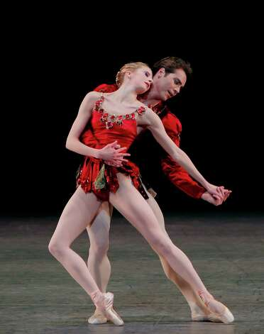 "Sterling Hyltin and Gonzalo Garcia in  Rubies from ""Jewels"" New York City Ballet  2/27/10 Credit photo: c.Paul Kolnik Photo: Paul Kolnik / ©2010 Paul Kolnik"