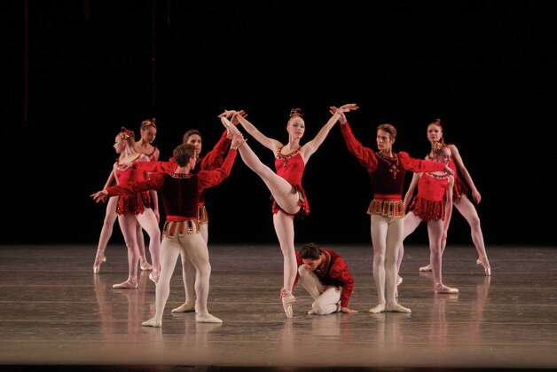 Rubies	George Balanchine	Teresa Reichlen and Ensemble	Photo c. Paul Kolnik