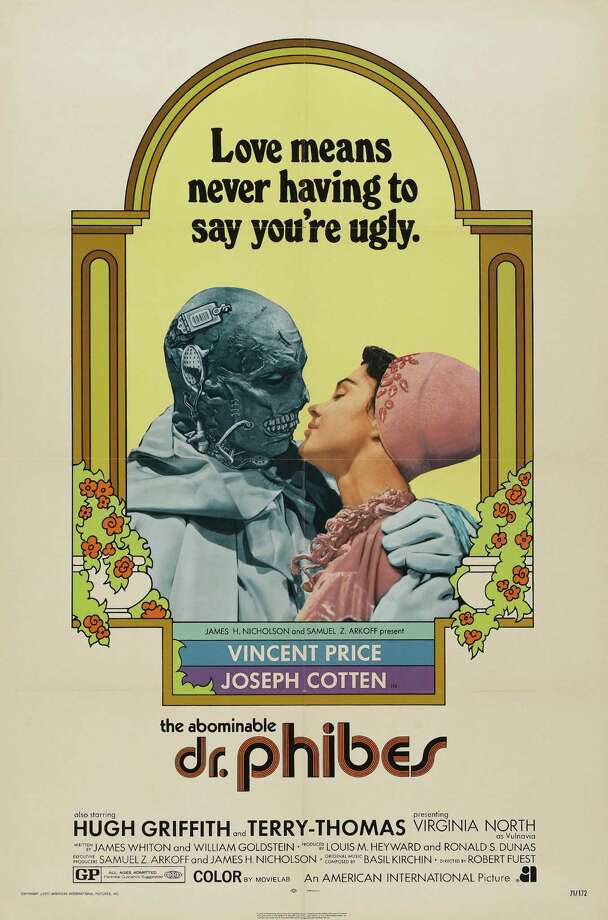 "Two classic horror films starring Vincent Price - including the 1971 ""Abominable Dr. Phibes"" - will be featured at the monthly ""Bedlam at the Bijou"" series on Thursday, Feb. 21. Photo: Contributed Photo"