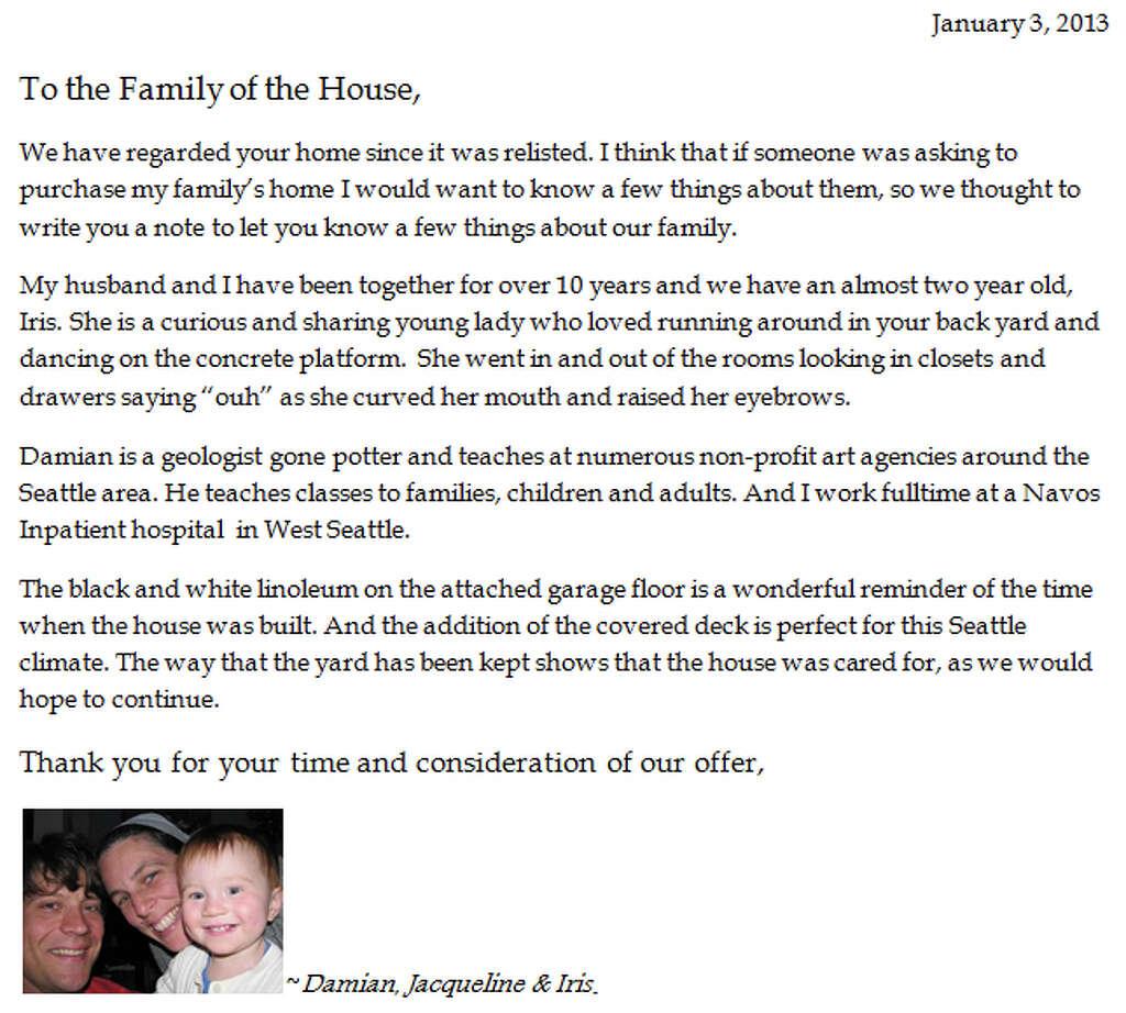 Home Offer Letter Letter Idea 2018