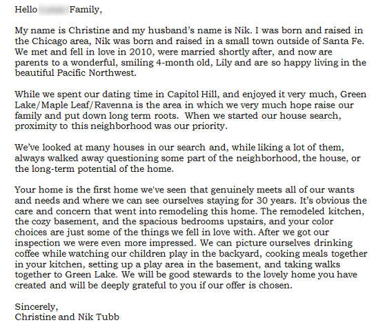 Dear Seller Letters Work For Home Buyers