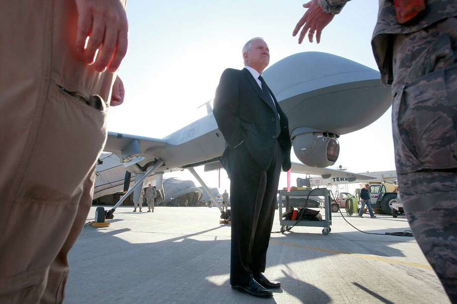 Former Defense Secretary Robert Gates backs lawmakers' proposal for a special court to review deadly drone strikes against Americans linked to al-Qaida. Photo: Scott Olson, Associated Press