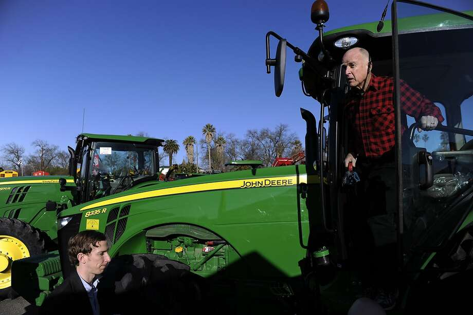 Gov. Jerry Brown tours the Colusa Farm Show Wednesday, Feb.  6, 2013 in Colusa, Calif.  Brown wades into potentially hostile territory to pitch his $14 billion plan to remake the state's water-delivery system by building massive tunnels below the Sacramento-San Joaquin Delta. Farmers in the delta region and upriver from where the tunnels will be located are concerned about their water supply if the governor's push is successful. He says the tunnels are needed to ensure that water deliveries continue to Southern California cities and Central Valley farmers if the delta is hit by a natural disaster, such as an earthquake or sea level increases.  (AP Photo/Appeal-Democrat, Chris Kaufman) Photo: Chris Kaufman, Associated Press