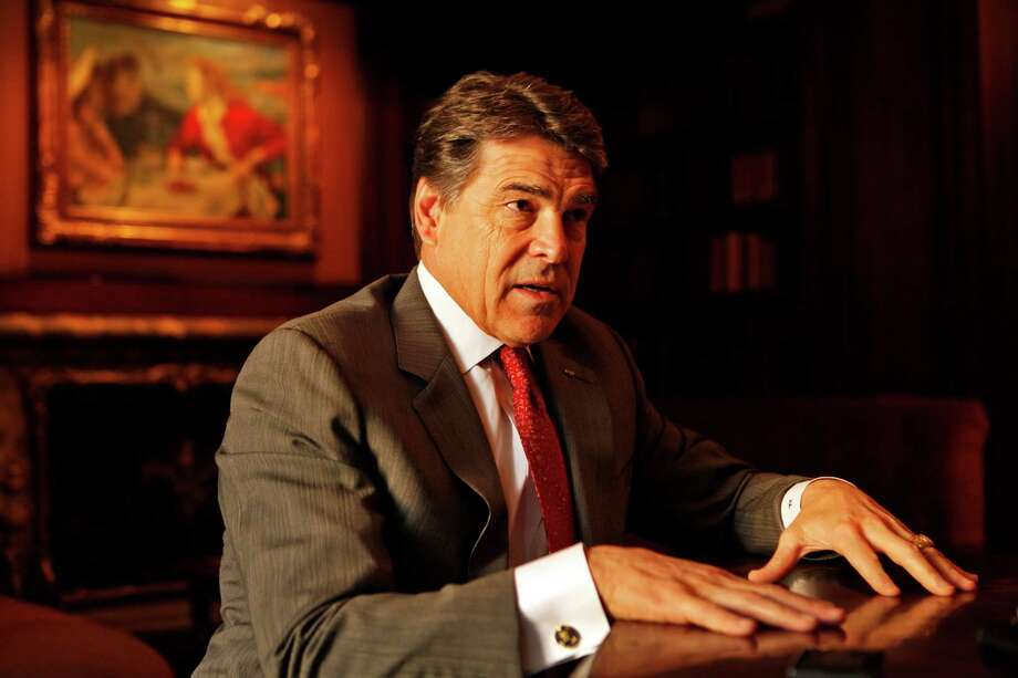 Texas Governor Rick Perry in Beverly Hills, California, on Tuesday, February 12, 2013, talks about his campaign to lure California businesses to Texas. (Al Seib/Los Angeles Times/MCT) Photo: Al Seib, McClatchy-Tribune News Service / Los Angeles Times