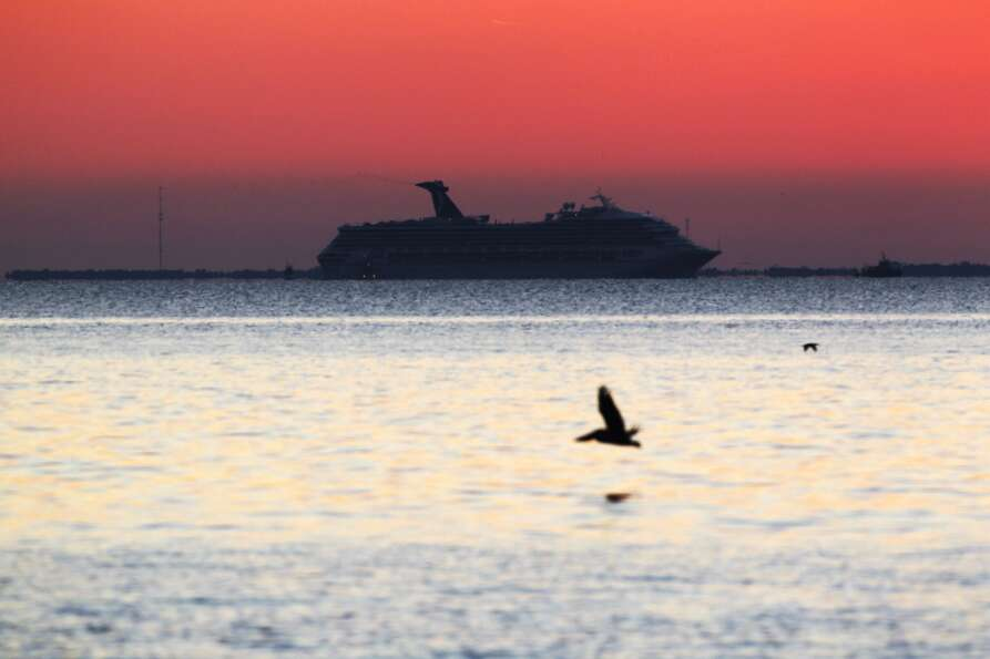 This serene image of the Carnival ship, from Mullet Point Park in Alabama, belies the horror onbo