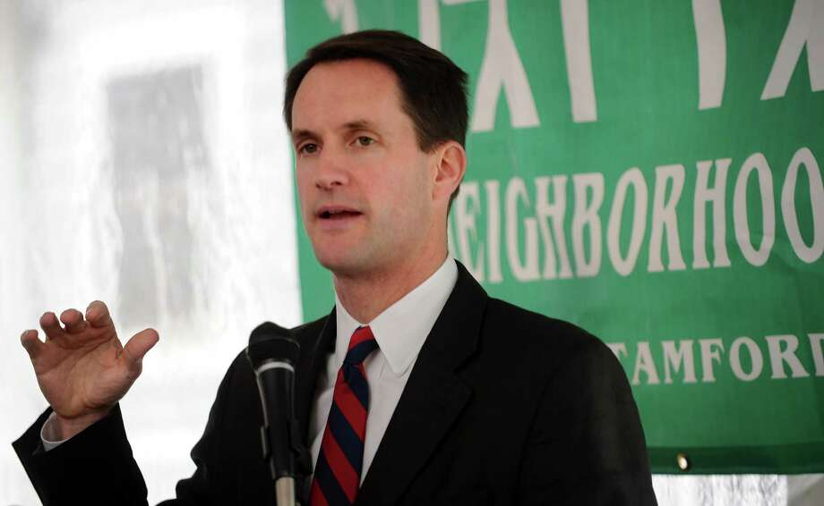U.S. Rep. Jim Himes (D-Conn.), speaks during a ribbon-cutting ceremony at Marshall Commons, an affordable housing complex by New Neighborhoods, Inc., in Stamford on Tuesday, October 23, 2012. Photo: Lindsay Niegelberg / Stamford Advocate