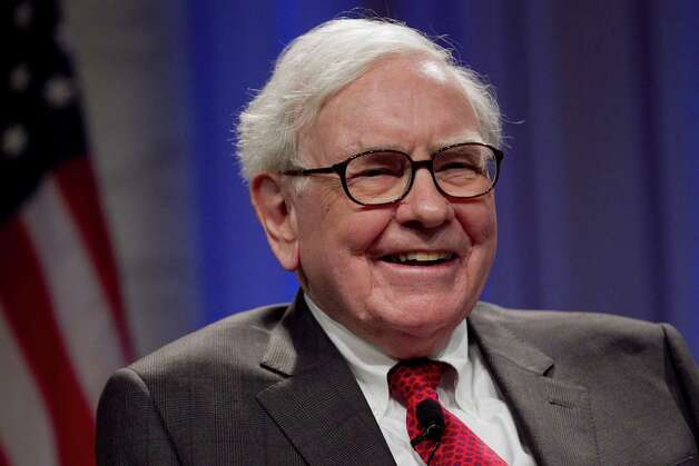 Warren Buffett, chairman of Berkshire Hathaway Inc., laughs during an interview at the Economic Club of Washington dinner event in Washington, D.C., U.S., on Tuesday, June 5, 2012. Buffett said he doesn't expect another U.S. recession unless Europe's crisis spreads. Photographer: Andrew Harrer/Bloomberg *** Local Caption *** Warren Buffett Photo: Andrew Harrer / © 2012 Bloomberg Finance LP
