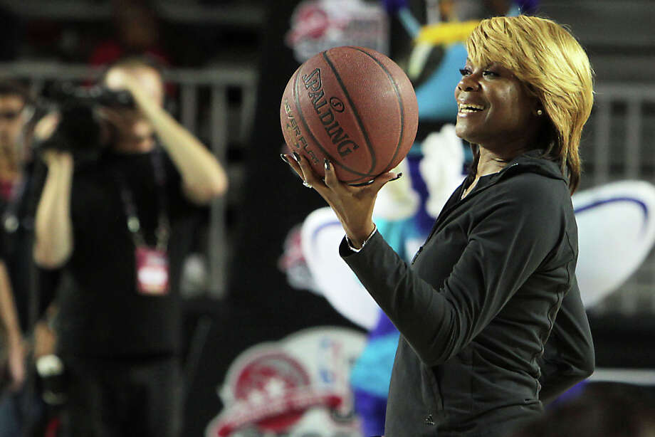 Former Houston Comet Sheryl Swoopes walks on the court during the NWBA Wheelchair Classic All-Star Game. Swoopes was one of the West All-Star coaches. Photo: James Nielsen, Chronicle / © Houston Chronicle 2013