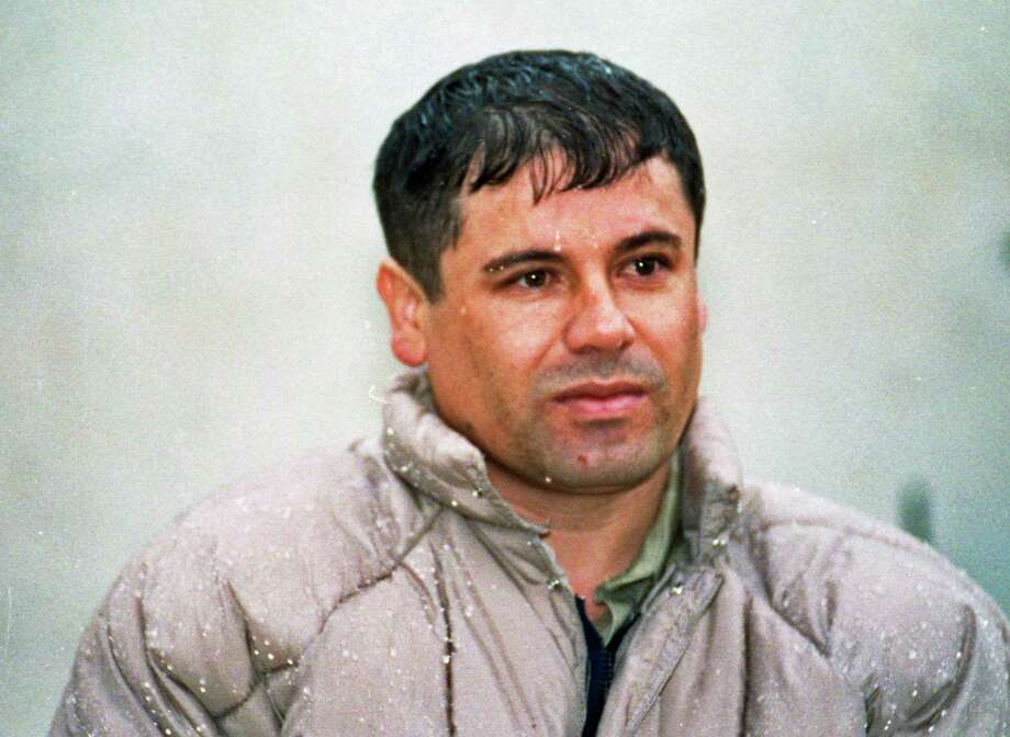"FILE - In this June 10, 1993 file photo, Joaquin Guzman Loera, alias ""El Chapo"" Guzman, is shown to the media after his arrest at the high security prison of Almoloya de Juarez, on the outskirts of Mexico City. Guzman escaped from a maximum security federal prison in 2001 and continues to be a fugitive. On Thursday, Feb. 14, 2013, the Chicago Crime Commission and the Drug Enforcement Administration is scheduled to name Guzman, the head of Mexico's Sinaloa crime cartel, as the new Public Enemy No. 1., the first time since Prohibition-era gangster Al Capone that authorities in the city deemed a crime figure so ominous a threat to deserve the label. (AP Photo/Damian Dovarganes, File) Photo: Damian Dovarganes"