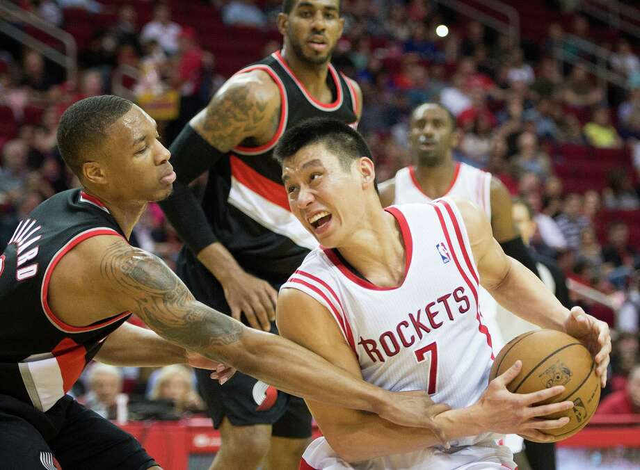 Point guard Jeremy Lin (7) thinks the Rockets are ahead of themselves as far as some expectations, but he also believes the team has the talent and potential to achieve more and make a run at the playoffs. Photo: Smiley N. Pool, Staff / © 2013  Houston Chronicle