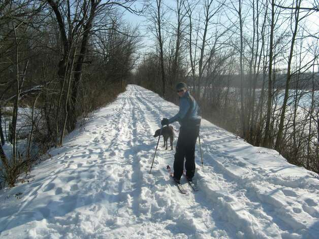 Photo by Herb Terns. Skiing at Vischer Ferry Nature Preserve in Clifton Park in January.