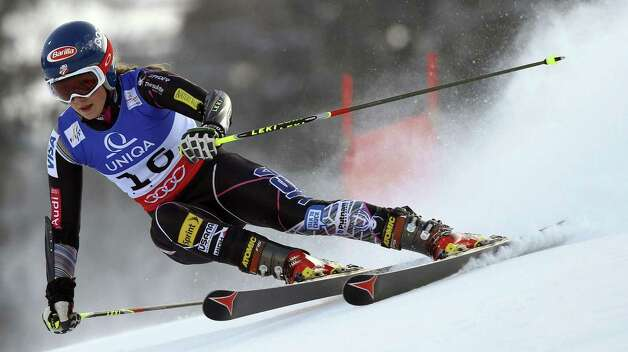 United States's Mikaela Shiffrin passes a gate during the first run of the women's giant slalom, at the Alpine skiing world championships in Schladming, Austria, Thursday, Feb.14, 2013. (AP Photo/Alessandro Trovati) Photo: Alessandro Trovati