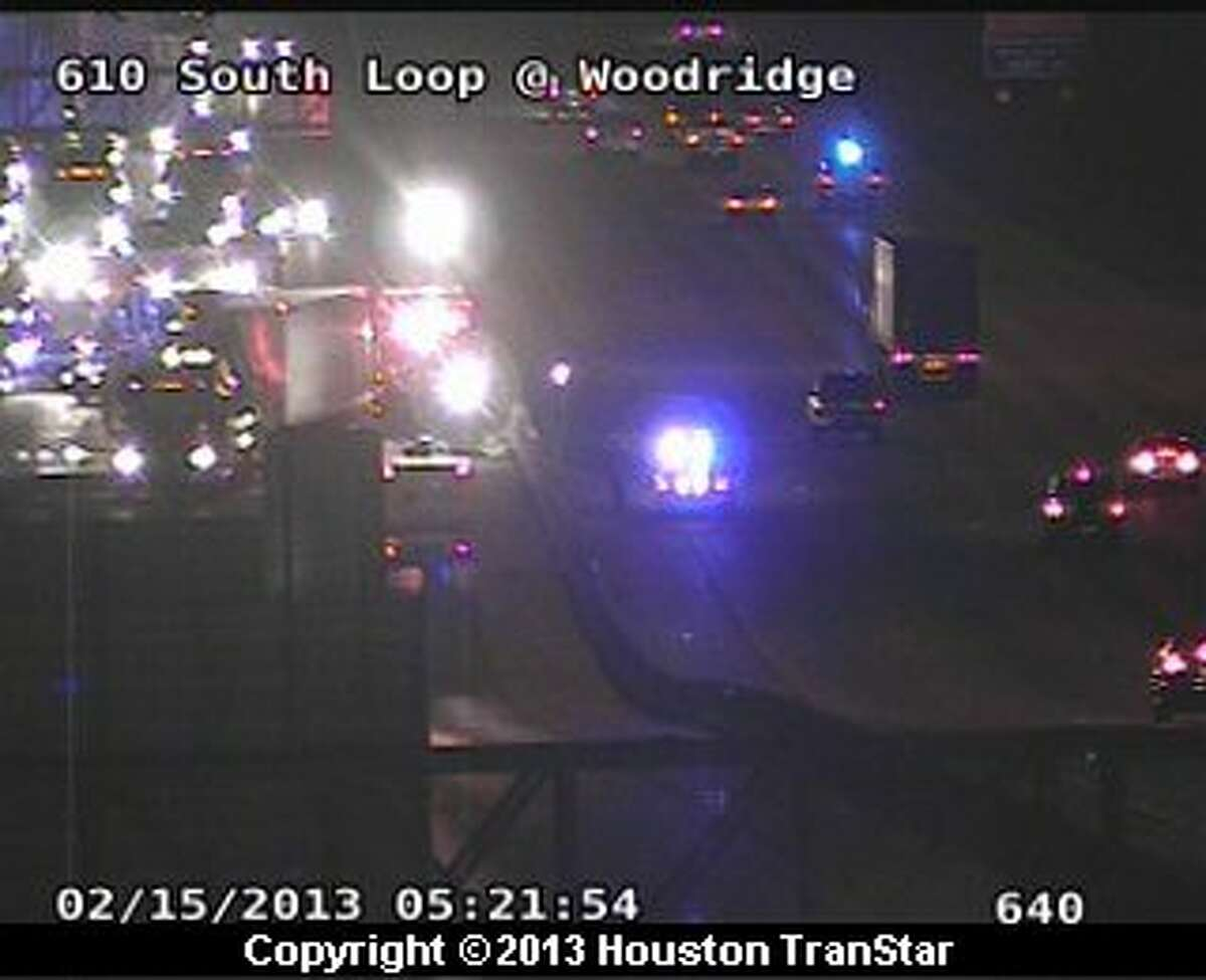 Portions of the South Loop near the Gulf Freeway were temporarily shut down after a big rig crash early Friday morning.