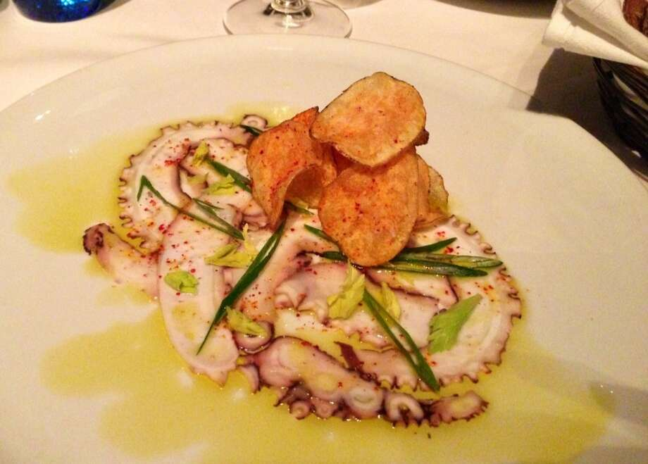 Octopus carpaccio at Waterbar