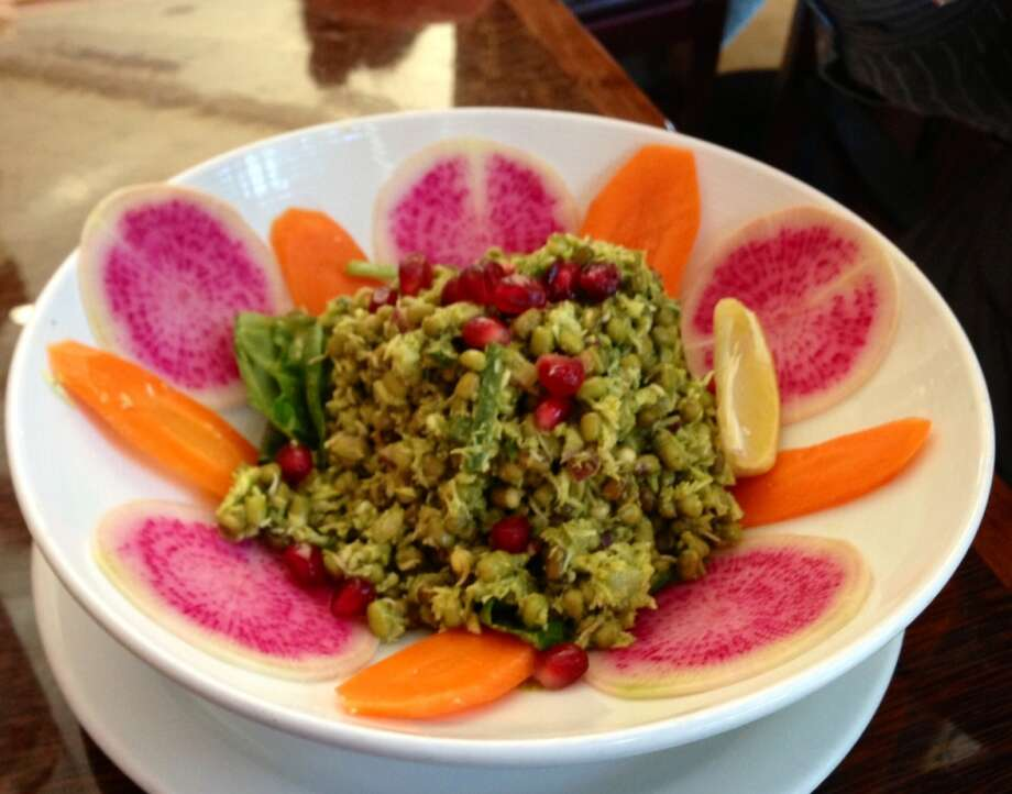 Sprouted lentil salad at Dosa on Fillmore